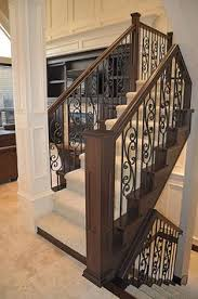 Wood Banisters And Railings Baluster Staircase Remodel Custom Stairs Iron Baluster