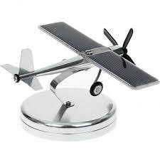 high technology solar aircraft model ornaments propeller rotating