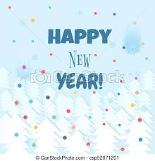 happy new year backdrop happy new year lettering text winter background vector vector