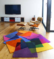 directory galleriesmodern leather area rugs bloc colorful modern