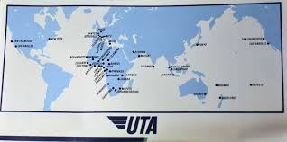 Icelandair Route Map by The Timetablist Uta French Airlines Worldwide Network 1989