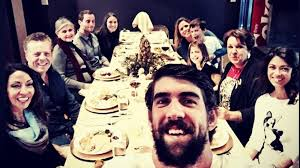 michael phelps brings friend to family s thanksgiving dinner