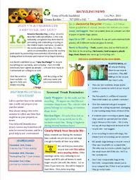 thanksgiving newsletter recycling newsletter north smithfield ri