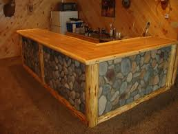 Basement Framing Ideas Images Of Rustic Bars Corner View Of A Rustic Log Framed Stone