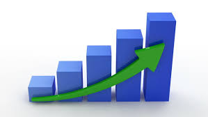 growing chart animation of growing business chart on white background hq video