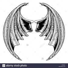 a circular bat demon dragon wings horror halloween design in a