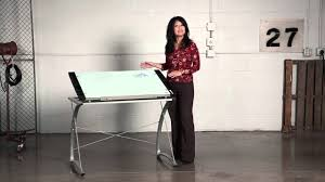 Diy Drafting Desk by Safco Xpressions Glass Top Drafting Table Youtube