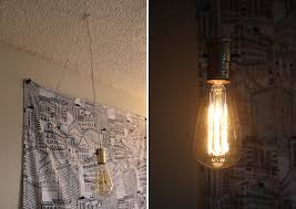 Light Bulbs For Pendant Lights Simple Diy Exposed Hanging Light Bulb