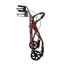 senior walkers with seat drive four wheel rollator with fold up