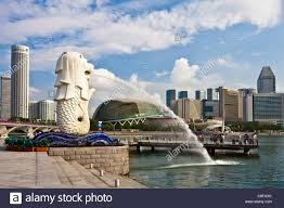 singapore lion singapore asia merlion landmark lion mermaid sculpture