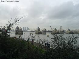 thames barrier reef park the thames path the thames barrier to greenwich