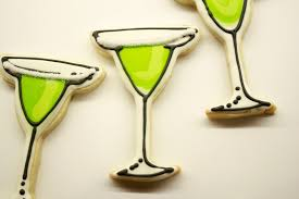 margarita outline margarita time and lime flavored icing with salt rimmed glasses