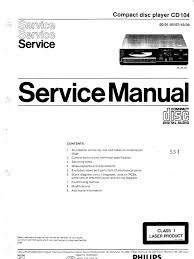 philips cd104 service manual