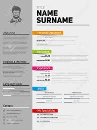 Resume Simple Design Resume Minimalist Cv Template With Simple Design Company