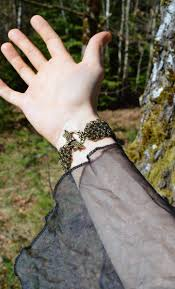 clasp cuff bracelet images Chainmail bracelet medieval fantasy elven cuff bracelet in jpg
