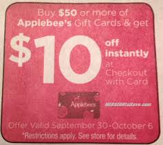 applebee s gift cards kroger 4x fuel points on gift cards applebee s discount offer