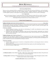 Preschool Teacher Job Duties For Resume by Resume For Child Care Background Finding Work U0026 Careers