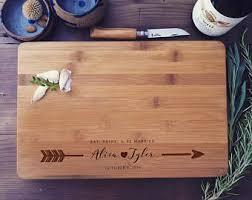 wedding gift cutting board gift set custom cutting board personalized spoon spatula