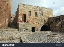 knights castle krak des chevaliers syria stock photo 43137001