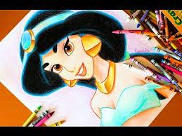 drawing princess jasmine aladdin budget art