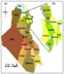 Map Iraq A Map Of Iraq B Map Of The Sulaymaniyah Province Where The