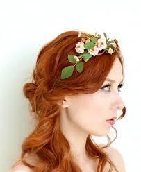 tiara blush flower crown floral crown woodland
