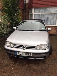 classic vw volkswagen golf cabriolet convertible in silver 2001