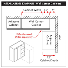 what is the depth of wall cabinets wall 36 x 42 blind corner unfinished alder kitchen cabinet