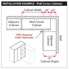 what to do with blind corner cabinet wall 36 x 42 blind corner unfinished alder kitchen cabinet