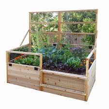 outdoor living today 6 ft x 3 ft raised garden bed with trellis