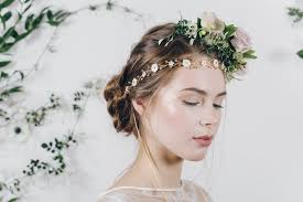 forehead headband flower garland wedding headband elizabetta debbie carlisle