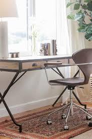 arteriors trent wood iron campaign desk transitional den