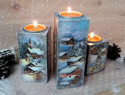 christmas tea light candle holders wooden christmas holidays decor christmas decoration candle