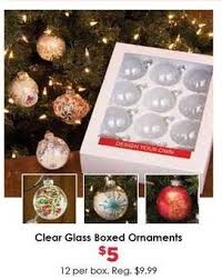 craft warehouse black friday clear glass boxed ornaments for
