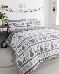 interior christmas bed linen stag christmas bedding snowman