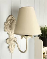 new vintage style ivory cream wall light lampshade shabby chic