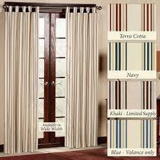 Navy Tab Top Curtains Weathermate Stripe Thermalogic Tm Tab Top Curtains