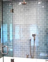 Blue Tile Bathroom Ideas by Subway Tile Shower Ideas Zamp Co