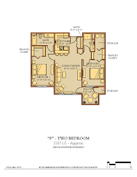 One Bedroom And A Den Floor Plans Kendal At Hanover