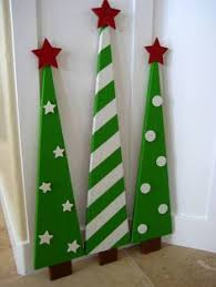 Christmas Craft Decor - wooden christmas trees decoration by laurasoriginals2 on etsy