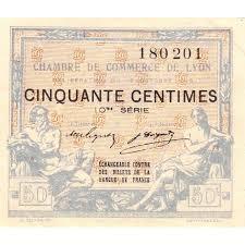chambre de commerce de lyon billet des chambres de commerce lyon 50 centimes