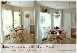 how high to hang curtains how to hang curtains with 10 foot ceilings eyelet curtain