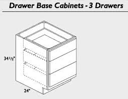 3 Drawer Base Cabinet Shaker Espresso Kitchen Cabinets We Ship Everywhere Rta Easy
