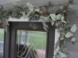 evergreen home decor 6 u0027 christmas garland snow covered pine hydrangea berries mint