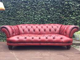 Used Leather Chesterfield Sofa by Red Leather Chesterfield Sofa Picclick Uk Of Idolza