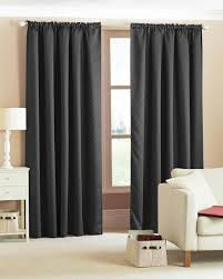 Terracotta Blackout Curtains Contemporary Living Room With Black Terracotta Blackout Curtain