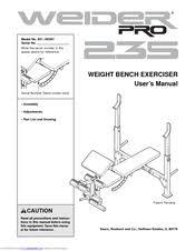 Weider Pro Bench Weider Pro 235 Bench Manuals