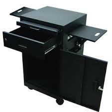 multimedia cart with locking cabinet luxor multi media workstation w locking cabinet fastenal