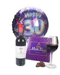 wine and chocolates 30th birthday gift price inc next day