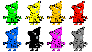 learn colors peppa pig coloring pages for kids peppa coloring
